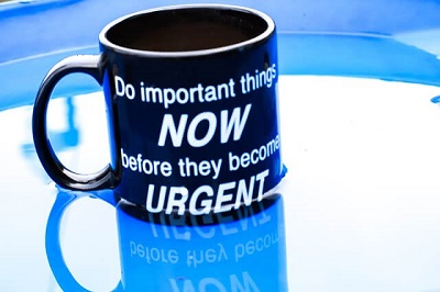 home moving motivational quote on a mug